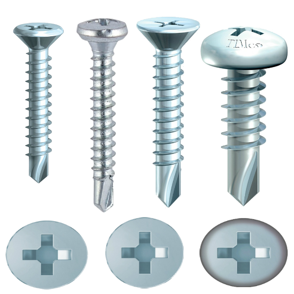 PVCu Window Screws
