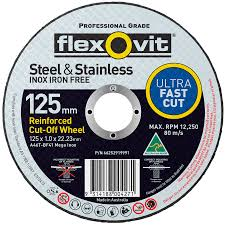 5'' x 1mm stainless steel cutting disc
