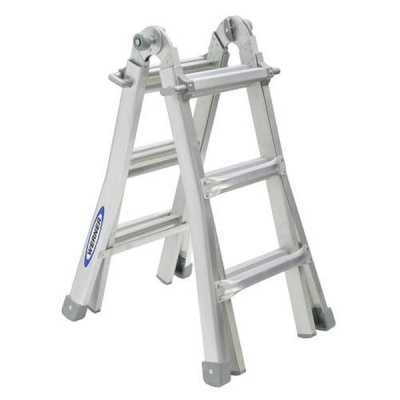 WERNER TELESCOPIC COMBINATION LADDER 4X3 Rung