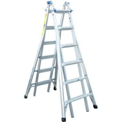 WERNER TELESCOPIC COMBINATION LADDER 4X6 Rung