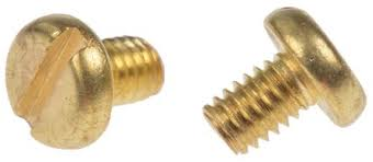 Brass panslotted machine screws 4mm