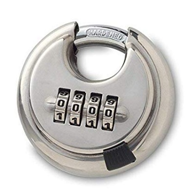 Disc combination stainless steel padlock