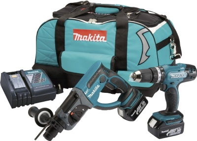 Makita DLX2025M 18V DHR202 DHP453Z 2 Piece Kit