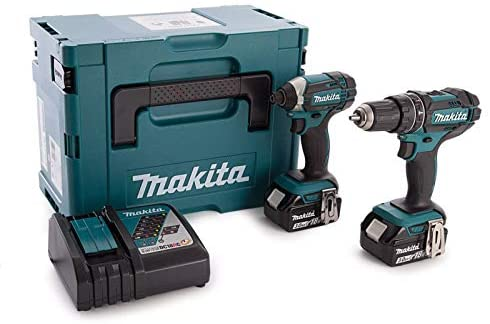 Makita DLX2131JX 2 Piece Cordless Kit 18V DHP482 + DTD152 (2 x 5.0Ah Batteries)