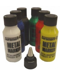 Metal paint marker with ball bearing top