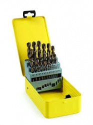 Addax 25 piece hss ground drill bit set