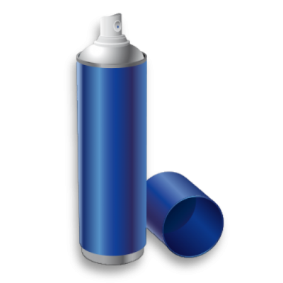 blue spray paint