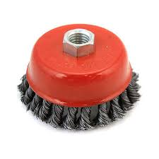Knotted cup brush 125mm