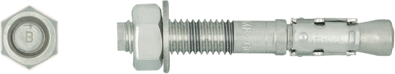 R-XPT CE APPROVED A4 STAINLESS STEEL Throughbolt