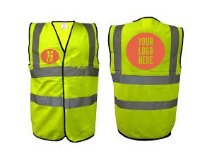 Yellow printed Hi vis vest