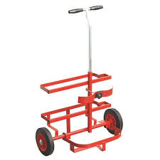 Oxygen & acetylene porta pack bottle trolly