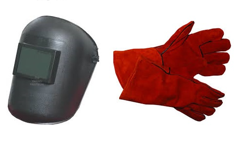 Welding shield and welding glove promotion