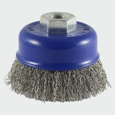 Stainless steel 75mm crimped cup brush