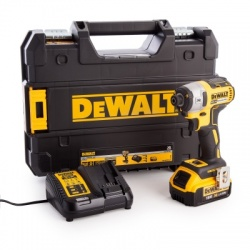 Dewalt impact driver complete with 1 x 4.0 amp li-ion batteries, fastcharger and case