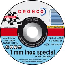 100 Dronco 4.5'' x 1 mm stainless cutting discs