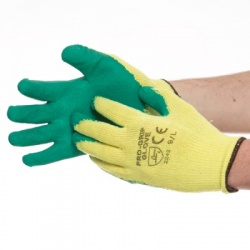 Green grip gloves