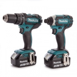 Makita DLX2131JX 2 Piece Cordless Kit 18V DHP482 + DTD152 (2 x 3.0Ah Batteries)