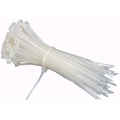 2.5mm wide white cable tie